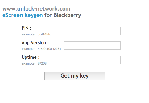 Blackberry Key Generator