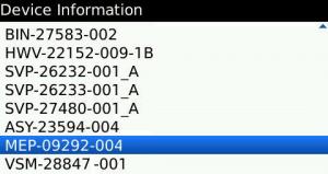 MEP Code blackberry
