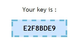 Generated key to access blackberry menu example
